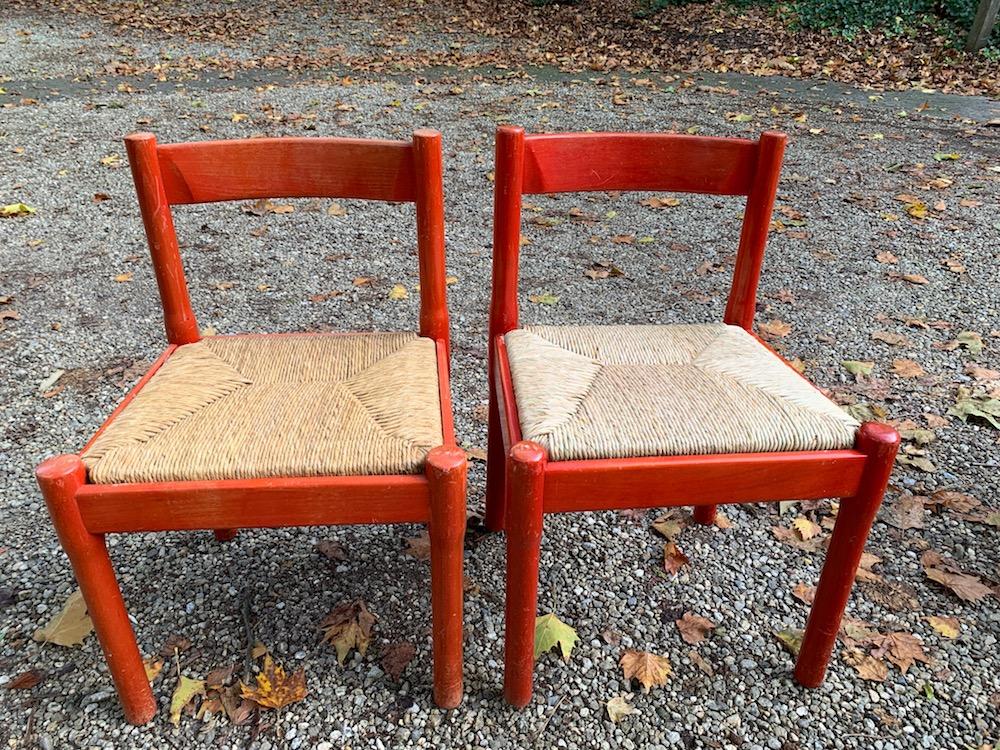 Vico Magistretti chairs, carimate, carimate chairs, vintage carimate chairs, vintage chairs, cane, vintage Magistretti chairs