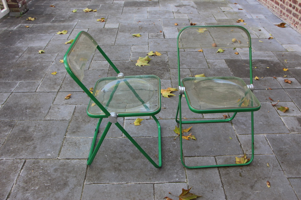 vintage Plia chairs by Giancarlo Piretti for Castelli