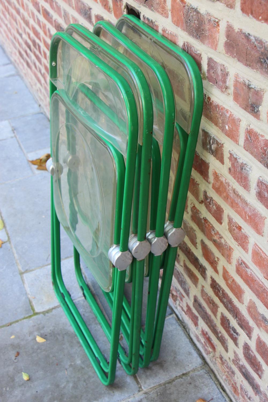 vintage Plia chairs by Giancarlo Piretti for Castelli