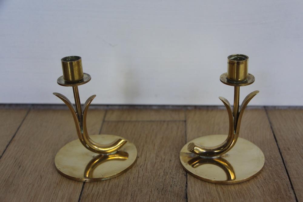 Gunnar Ander candlesticks, vintage, Ystad Metall