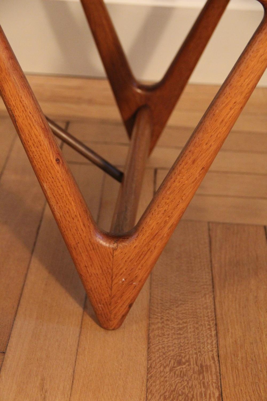 Kurt Ostervig vintage coffee table, detail, Surfboard