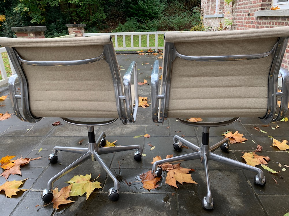 Eames softpad, Herman Miller, Eames aluminium, desk chairs, office chairs, hopsack, vintage desk chair, vintage office chair, vintage chair, American design