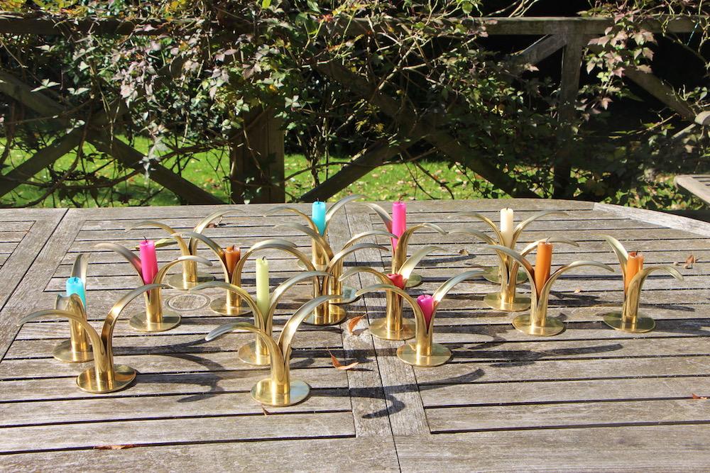 vintage candlesticks by Ivar Aelnius Bjork for Ystad Metall