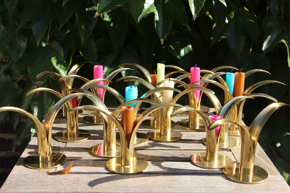 vintage candlesticks by Ivar Aelnius Bjork for Ystad Metall
