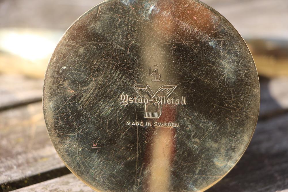 vintage candlestick by Ivar Aelnius Bjork for Ystad Metall