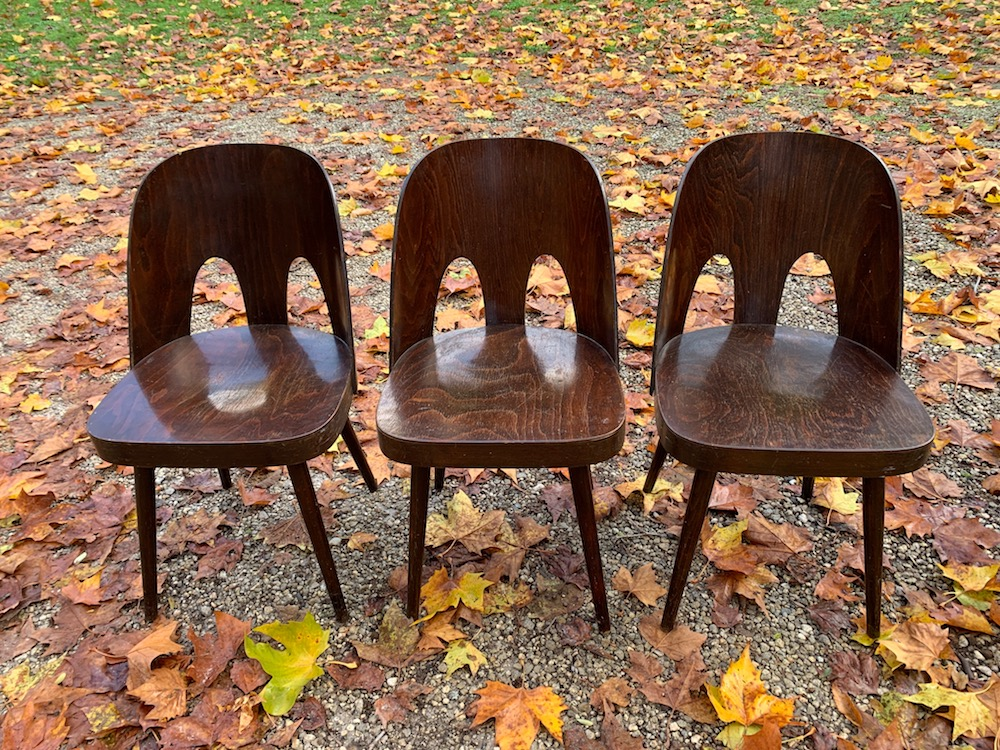 Oswald Haerdtl chair, double bow, vintage chairs, vintage dining chairs, wooden chairs, european design