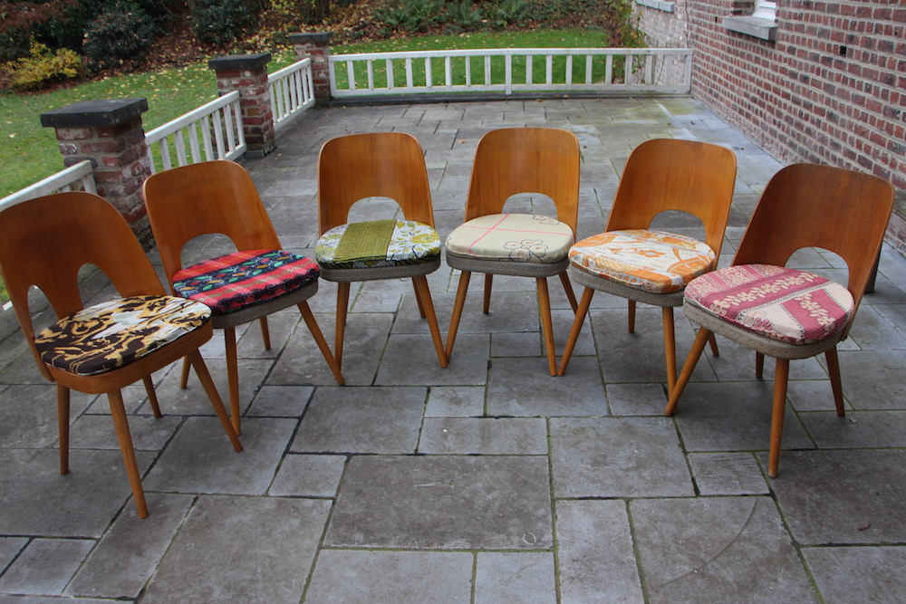 Oswald Haerdtl vintage chairs for Tatra