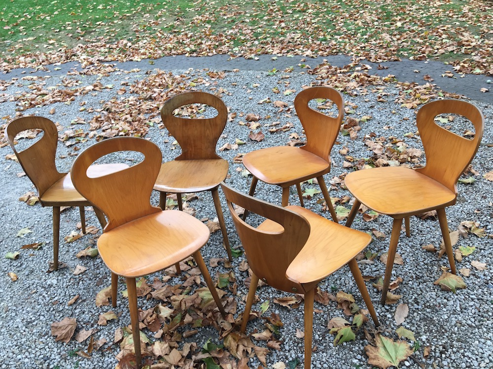 set of vintage Baumann chairs