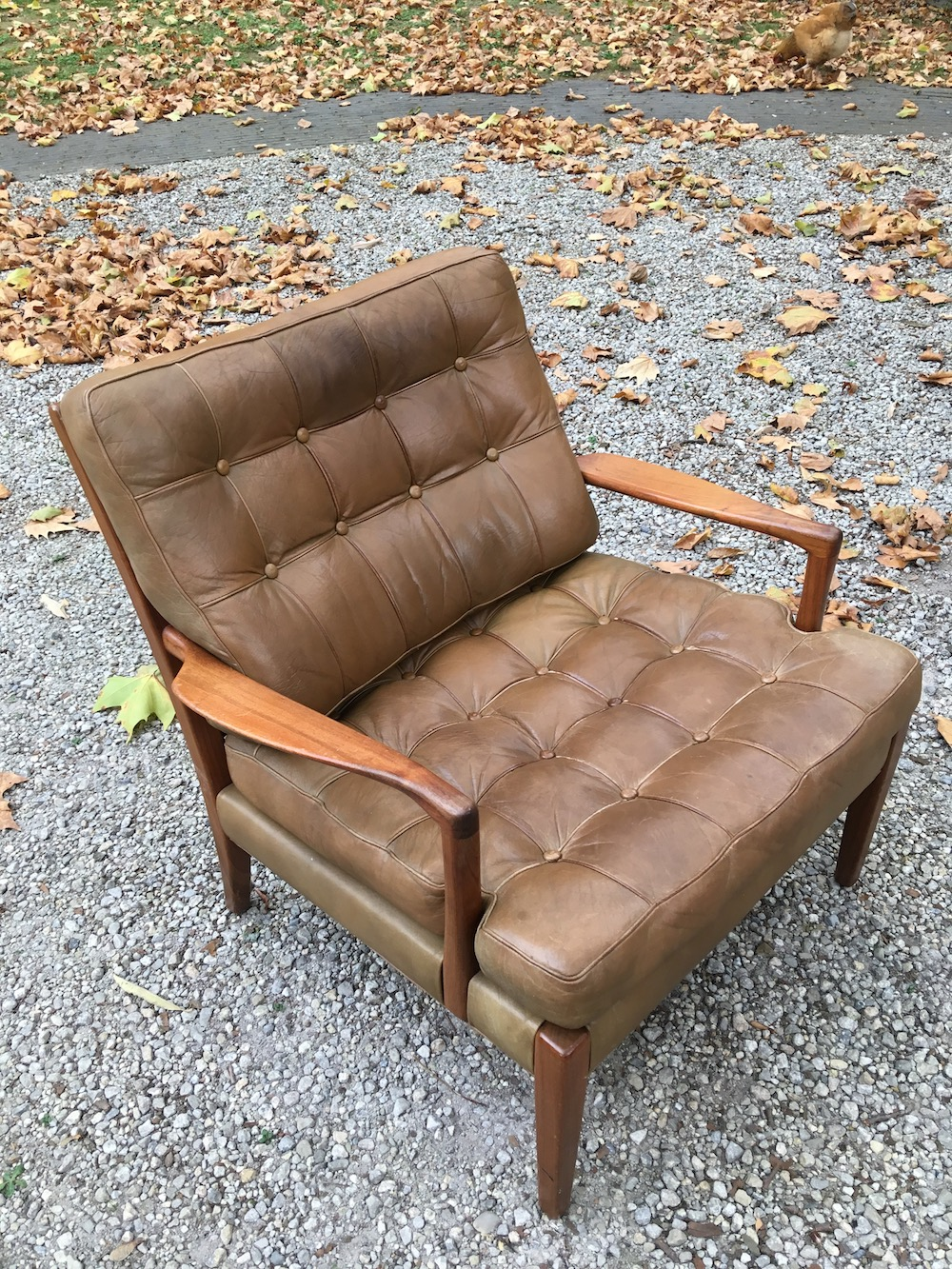 vintage easy chairs by Arne Norell, model Löven, lounge chairs