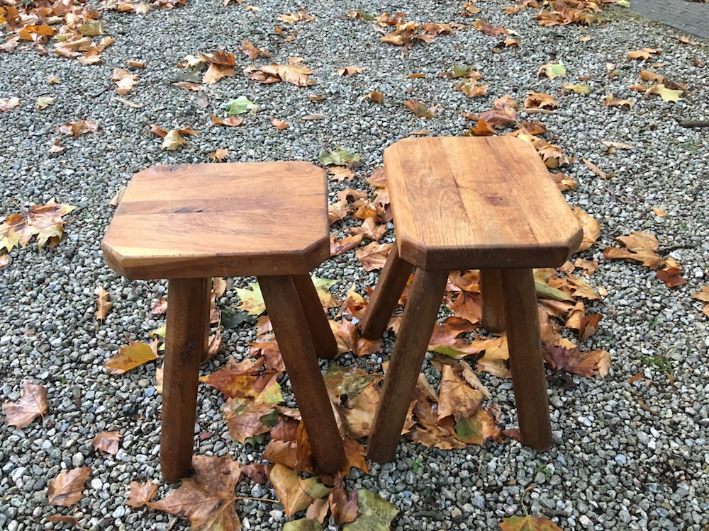pair of  vintage wooden stools or bedside tables