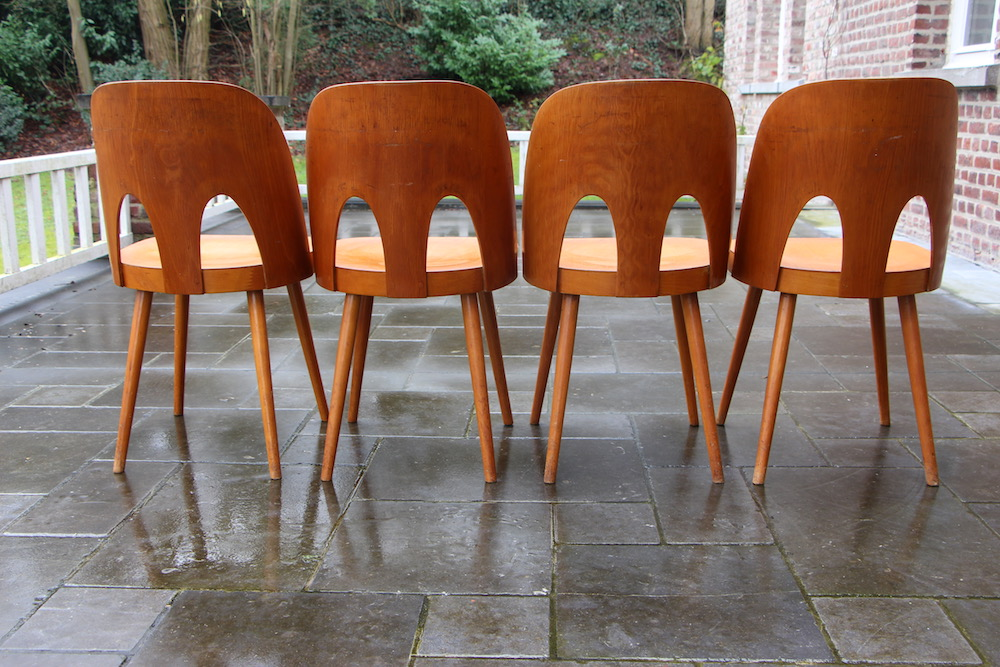 vintage Oswald Haerdtl chairs, for Ton