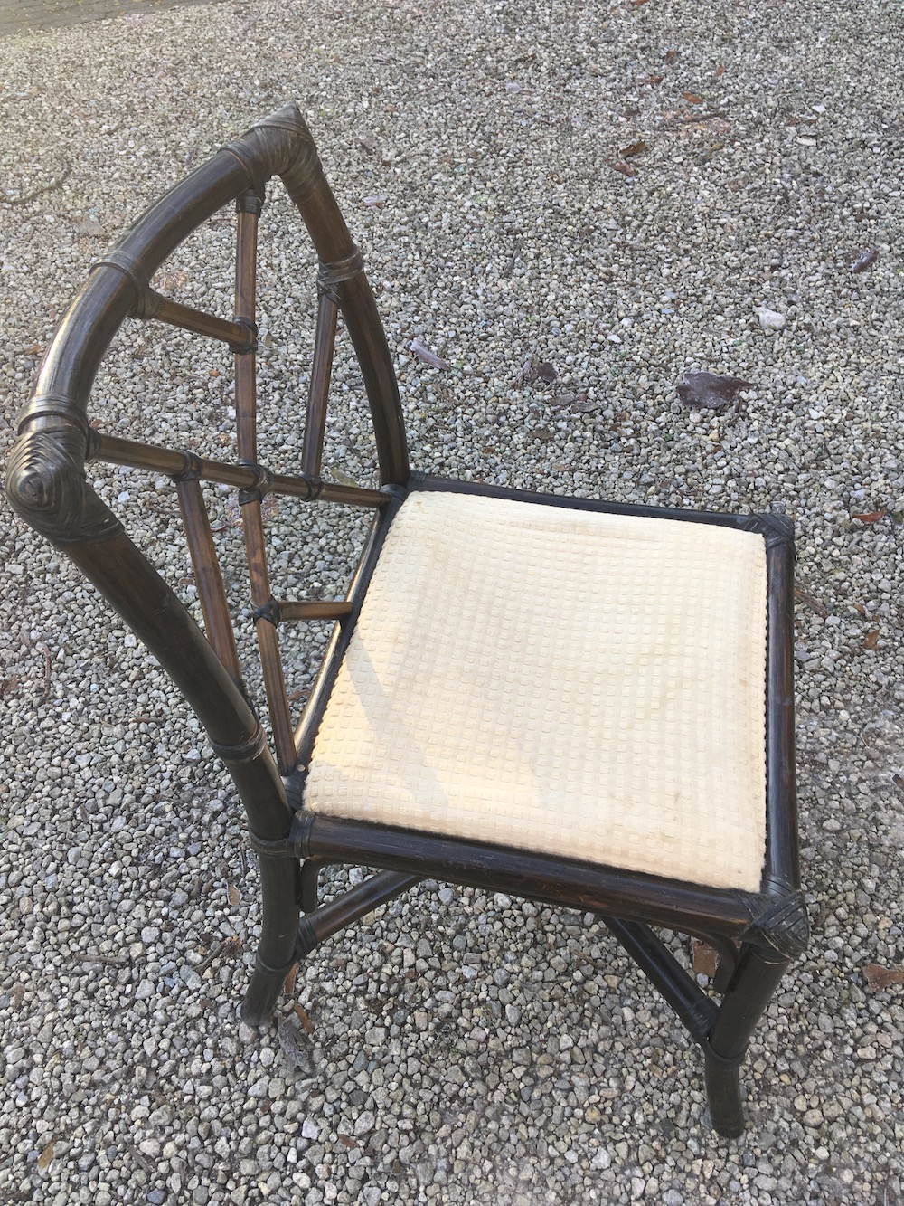 vintage bamboo chairs, dining chairs