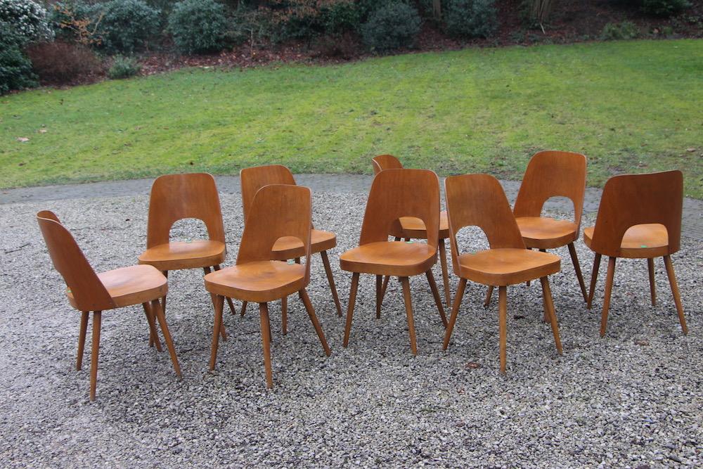 Oswald Haerdtl vintage chairs for Ton