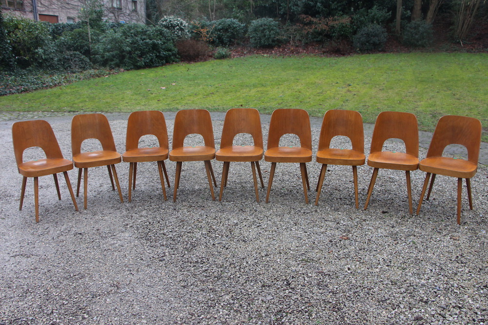 Oswald Haerdtl vintage chairs for Ton