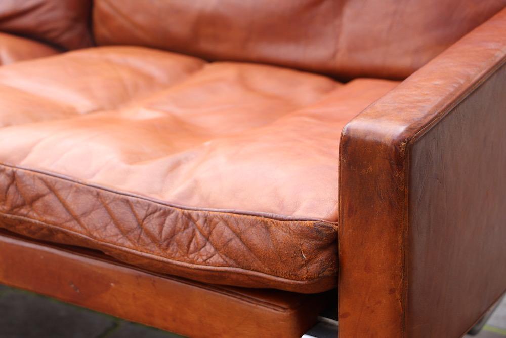 vintage Poul Kjaerholm PK31/3 sofa for Kold Christensen