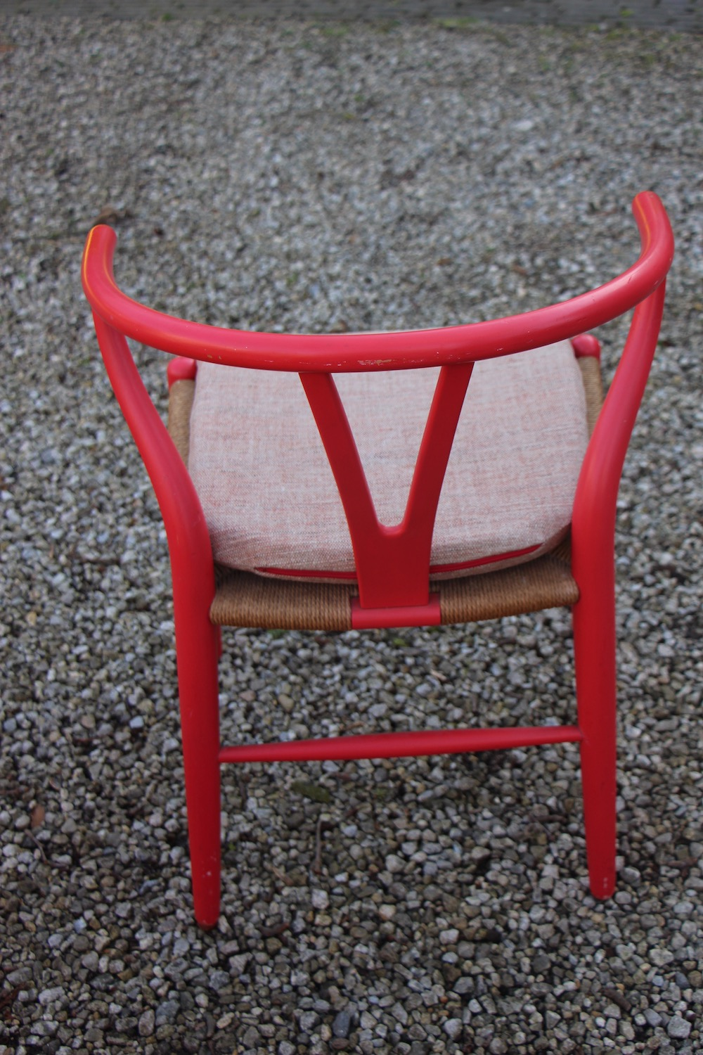 vintage Hans Wegner wishbone chairs, Y chairs, by Carl Hansen