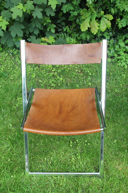 Lübke folding leather chair