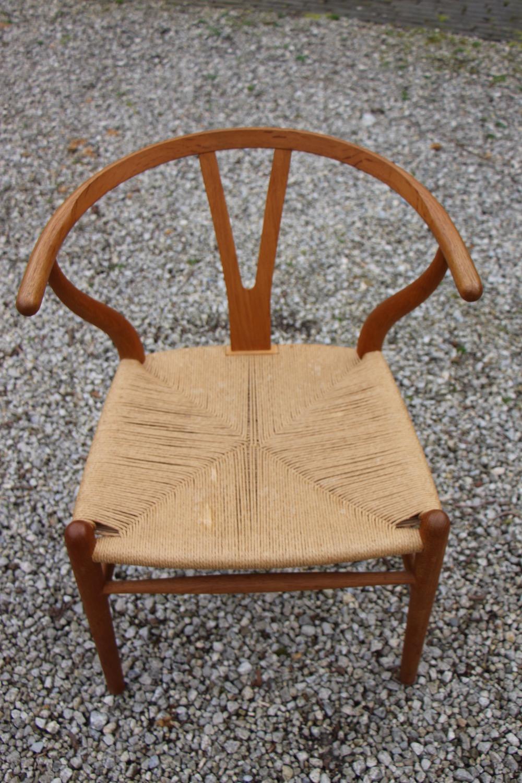 vintage Hans Wegner wishbone chair, Y chair, Carl Hansen