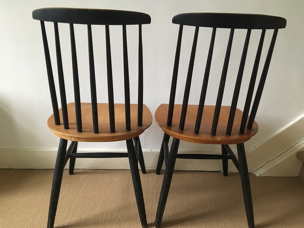 rs by Ilmari Tapiovaara, vintage chairs, fifties chairs, wooden chairs