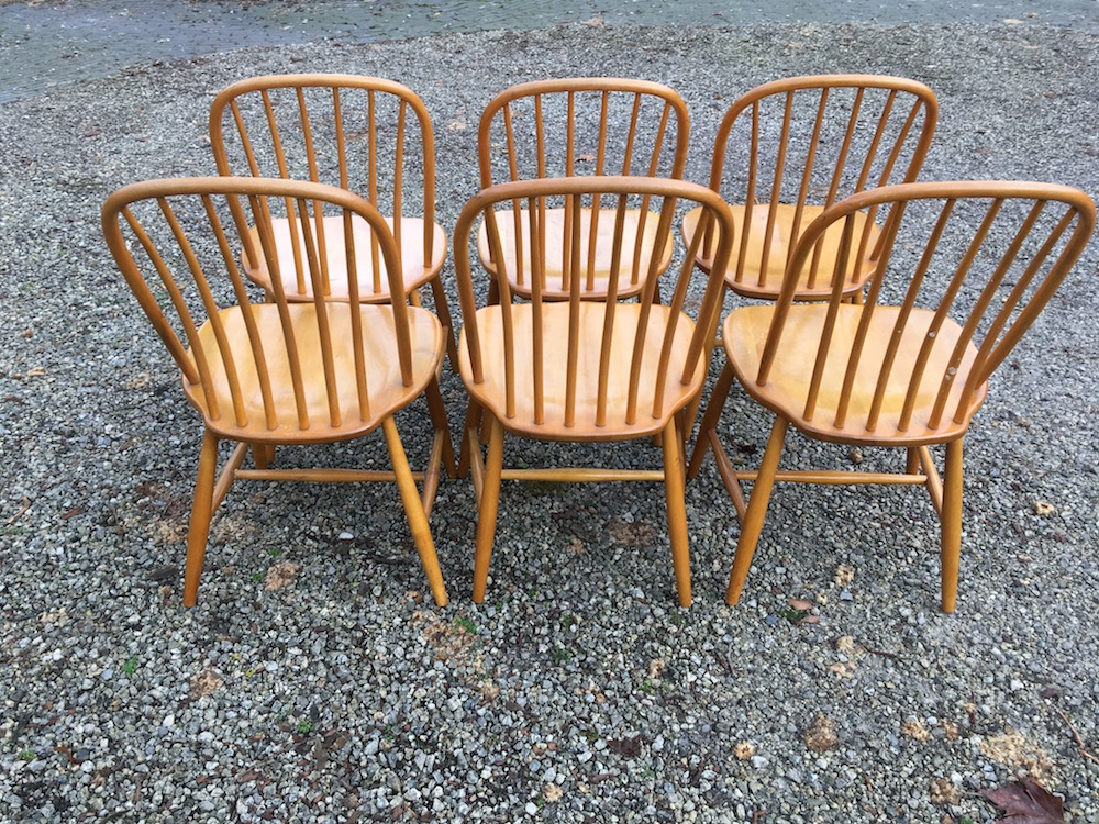 Belgian dining chairs, vintage chairs, Imexcotra, wooden chairs