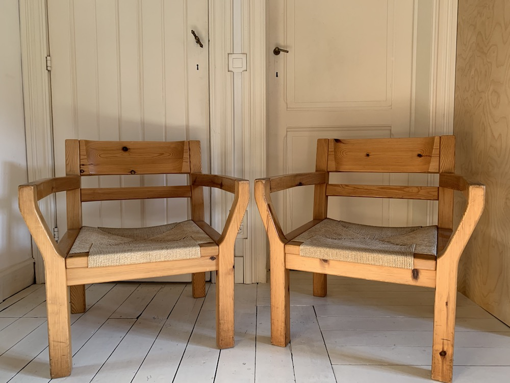 Tage Poulsen, lounge chairs, vintage lounge chairs, scandinavian design,, pine chairs, kinfolk, pine and cord