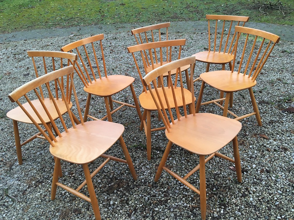 l Poul Volther, Danish chairs, spine chairs, wooden chairs, Scandinavian design, Danish design, vintage chairs