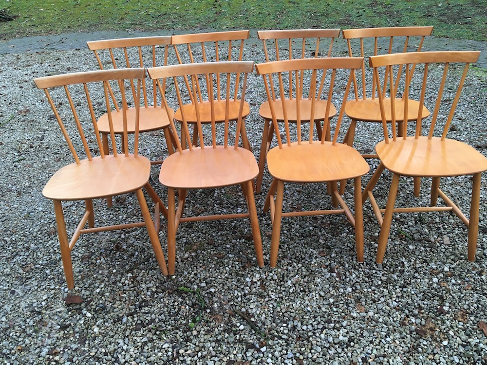 Poul Volther, Danish chairs, spine chairs, wooden chairs, vintage chairs