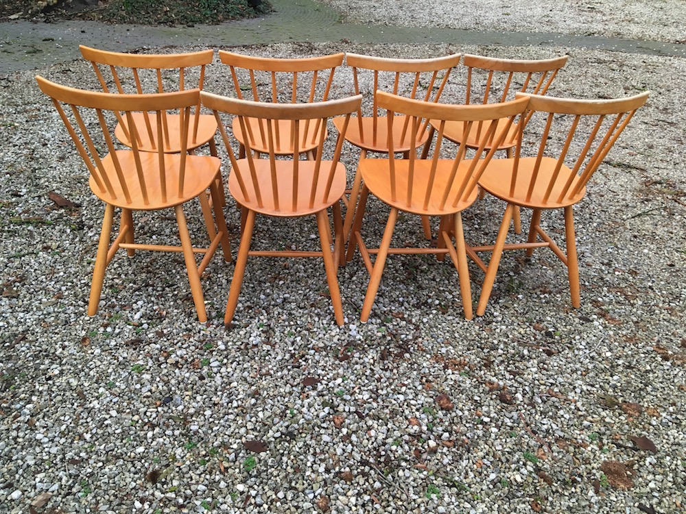Poul Volther, Danish chairs, spine chairs, wooden chairs, Scandinavian design, Danish design, vintage chairs