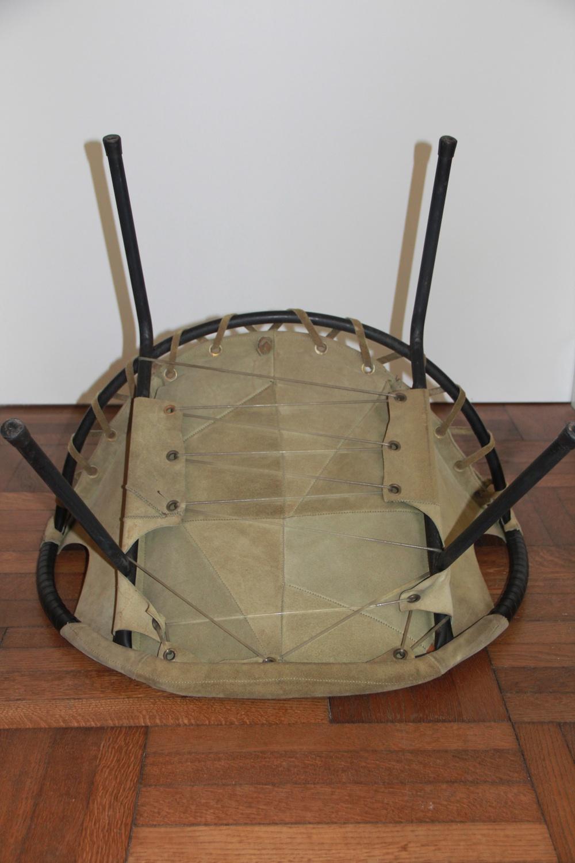 Light green round chair