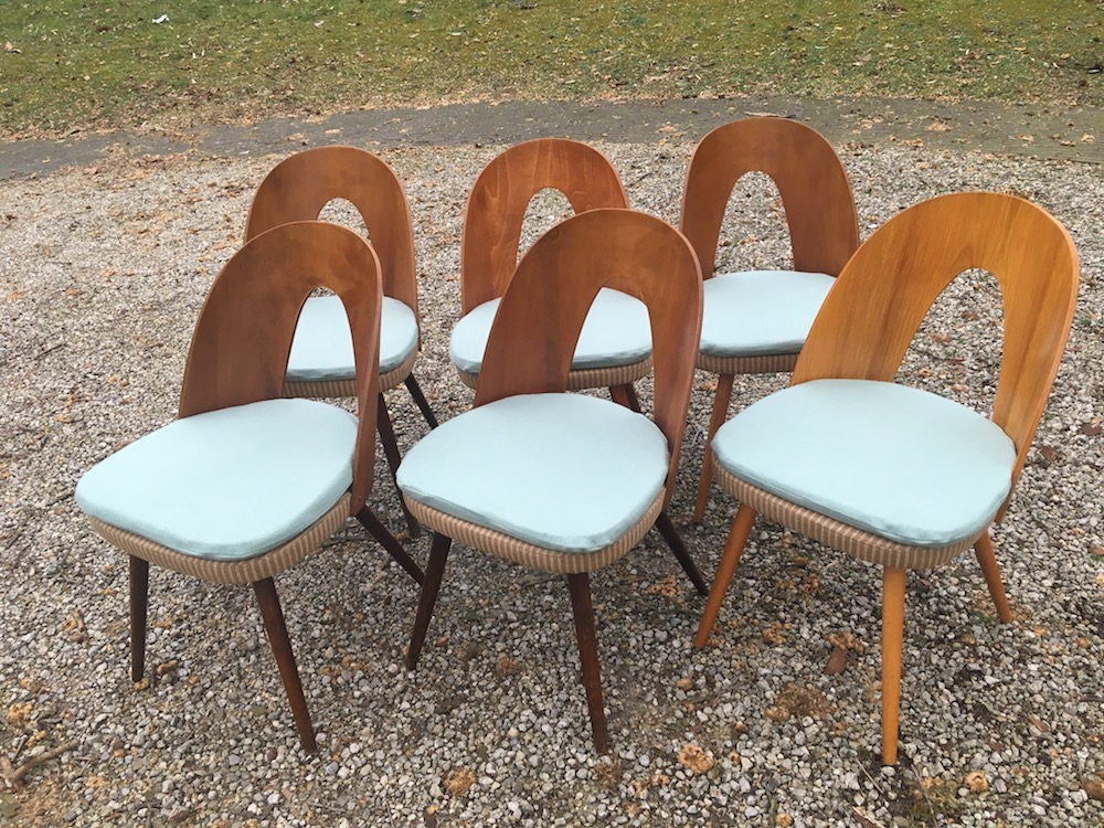 vintage chairs, Antonin Suman chairs, design chairs, dining chairs, Tatra