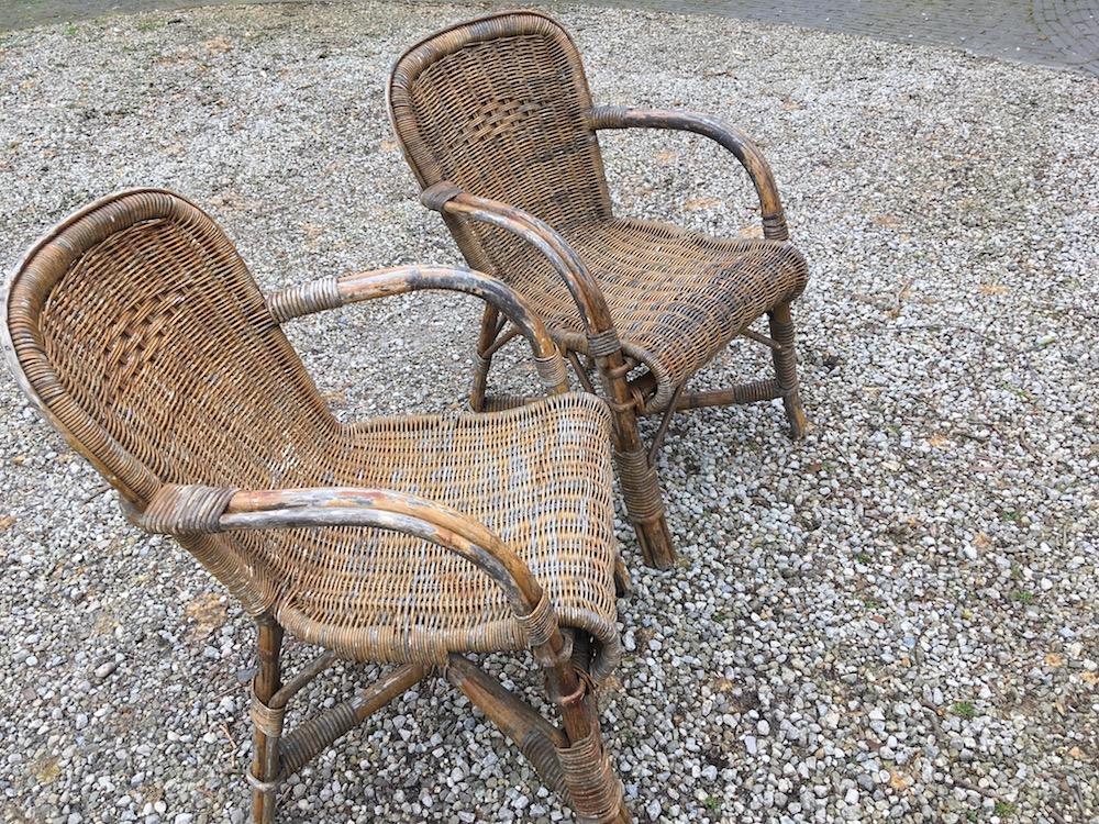 vintage garden chairs, garden chairs, rattan, rattan chairs