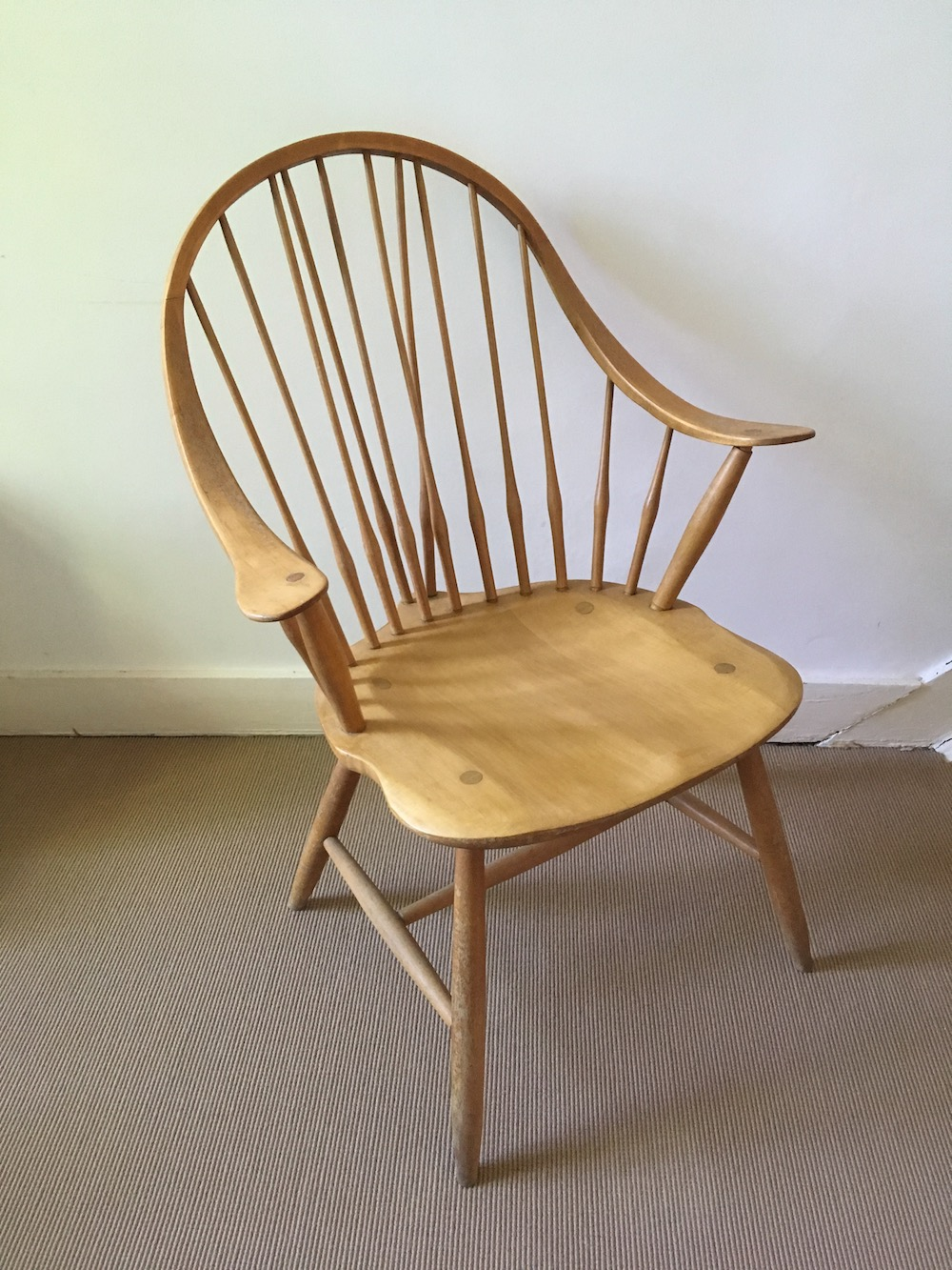 wooden chair, lounge chair, vintage chair, shaker furniture, shaker style, shaker