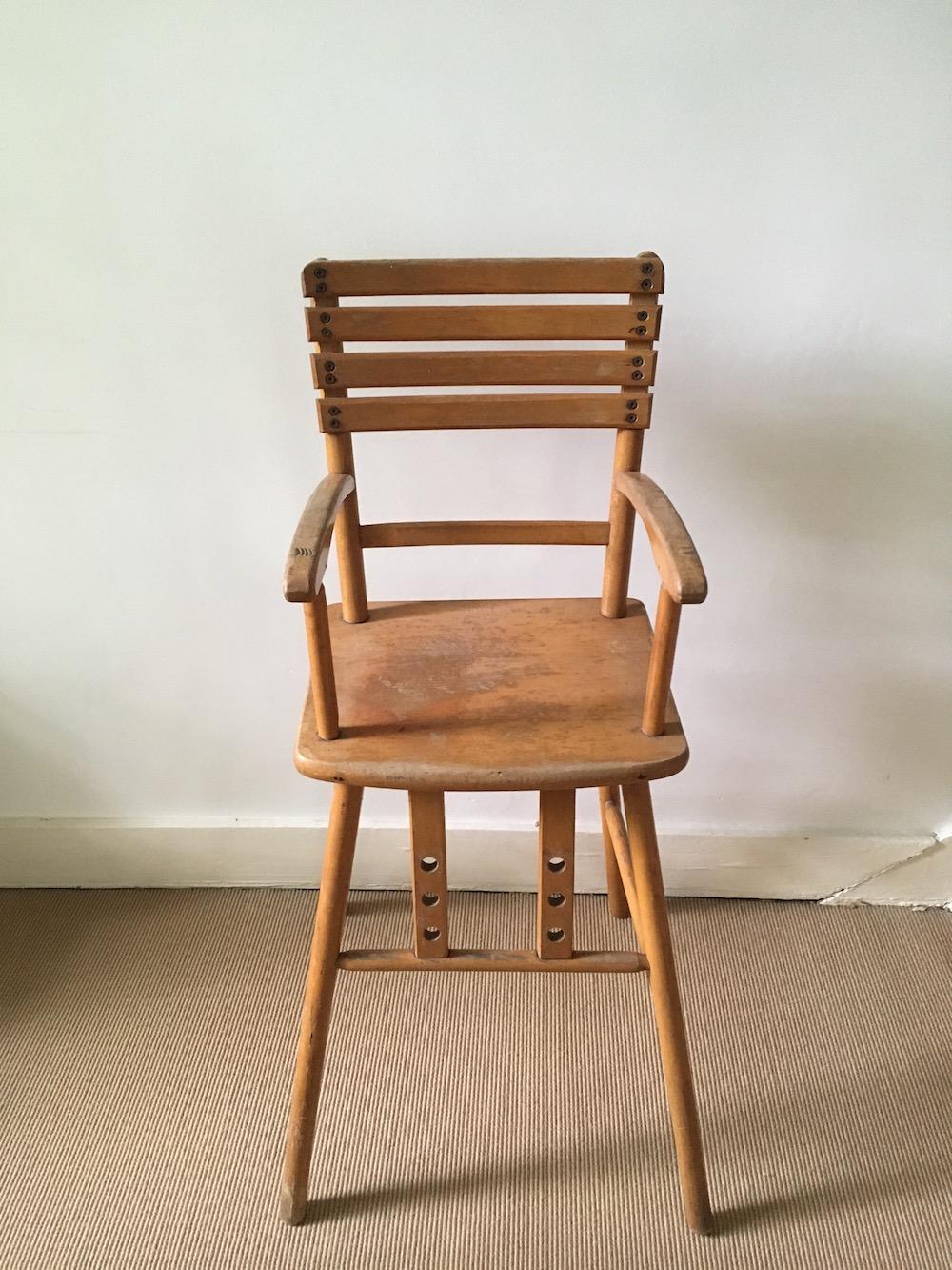 vintage chair, wooden chair for children, high chair, high chair for child, vintage high chair