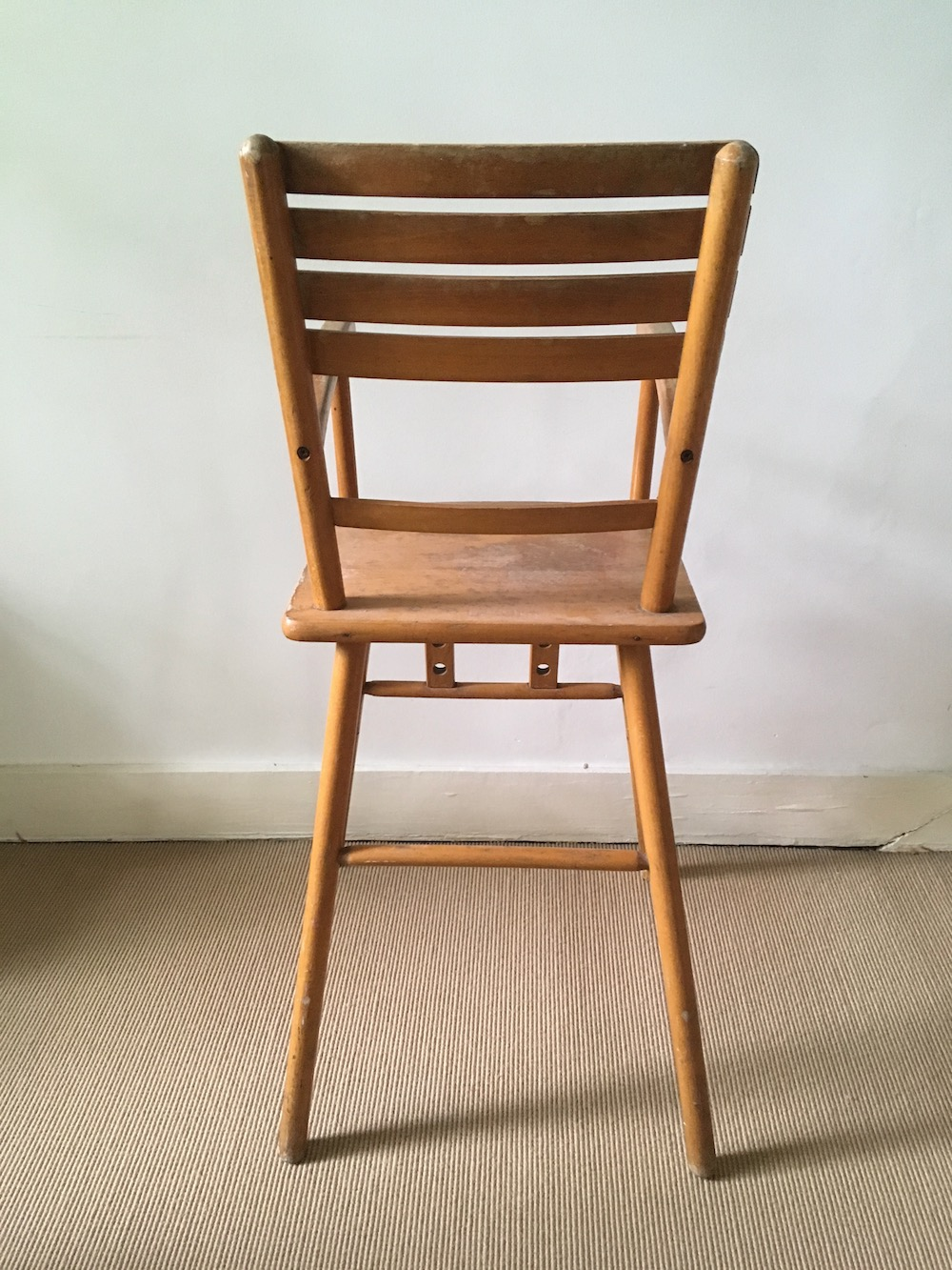 vintage chair, wooden chair for children, high chair, high chair for child, vintage high chair