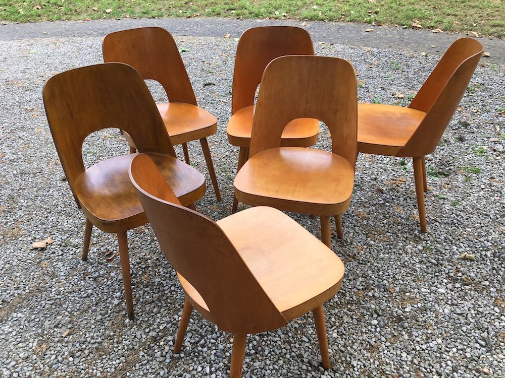 vintage wooden chairs, vintage chairs, thonet chairs, thonet, oswald haerdtl, dining chairs, vintage dining chairs