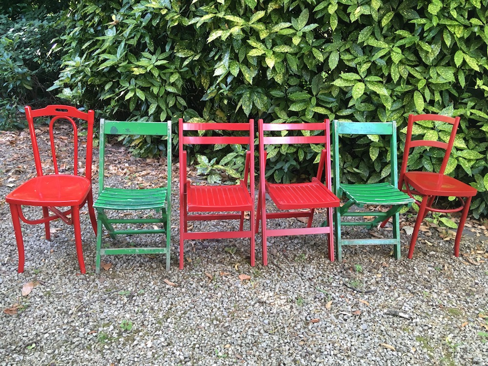 set of vintage dining chairs, vintage chairs, painted chairs, folding chairs, vintage, dining chairs, kitchen chairs