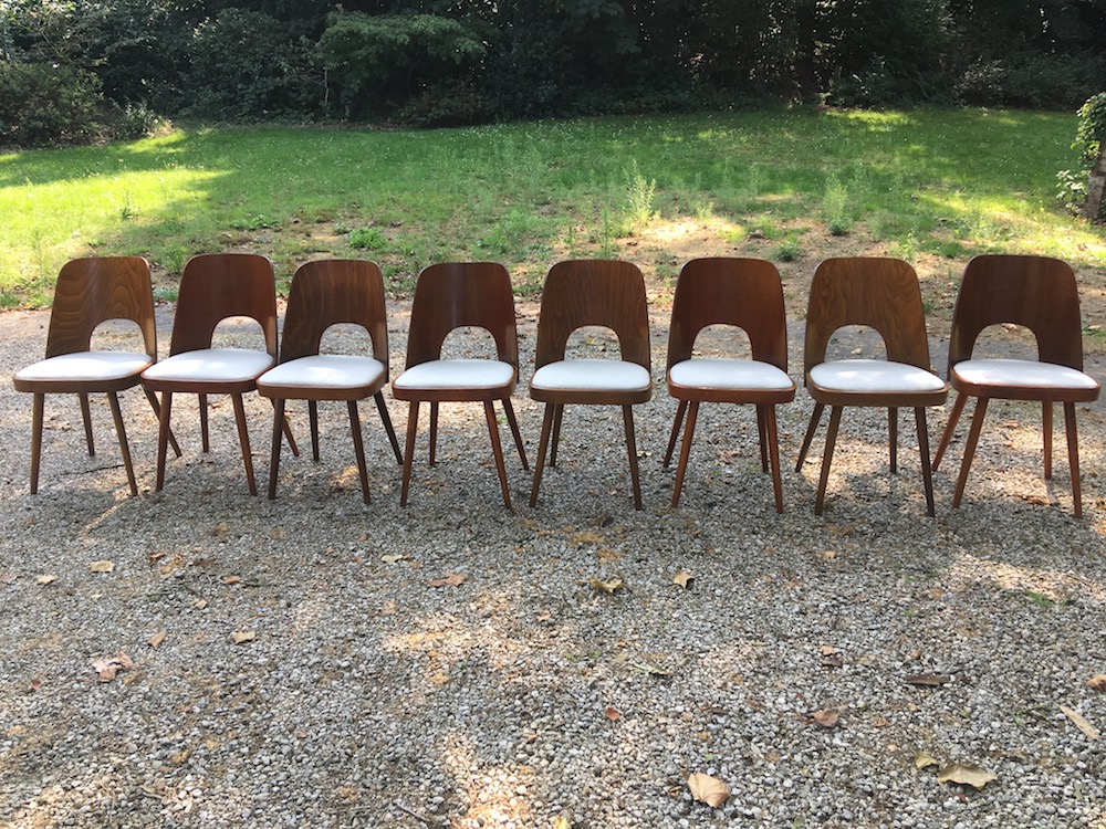 Oswald Haerdtl, vintage dining chairs, Ton chairs, wooden vintage chairs, design chairs