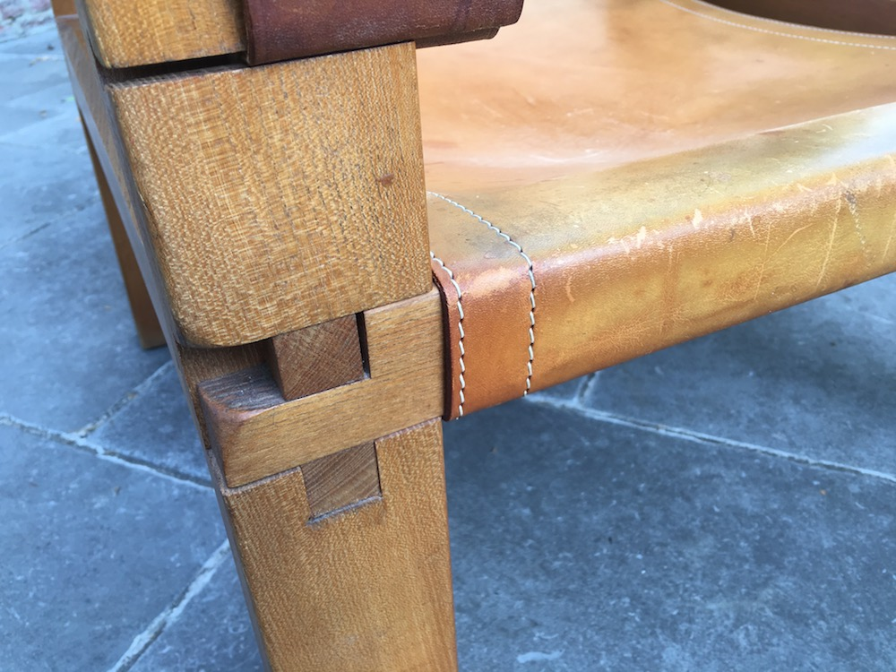 Pierre Chapo, lounge chair, leather lounge chair, vintage chair, vintage Pierre Chapo, Chapo S10 Chair, Sahara chair, Pierre Chapo Sahara chair