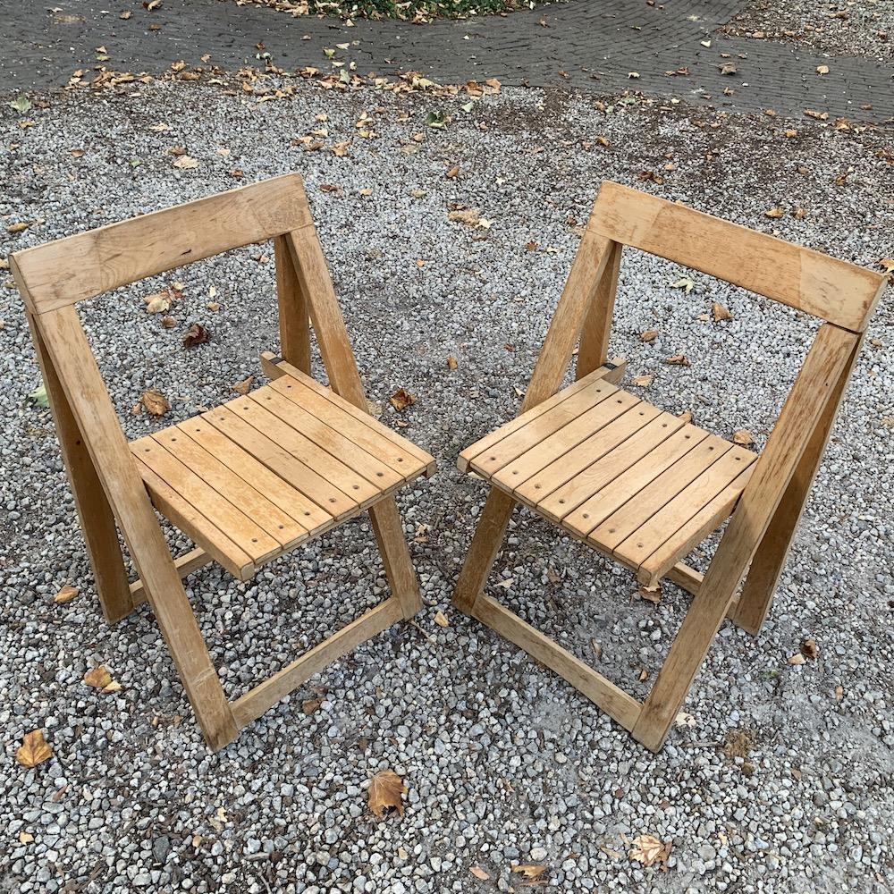 vintage wooden chairs, folding chairs, chaises pliantes, Aldo Jacober, Aldo Jacober style, sixties chairs, chaises vintage, chaises design, dining chairs, vintage dining chairs