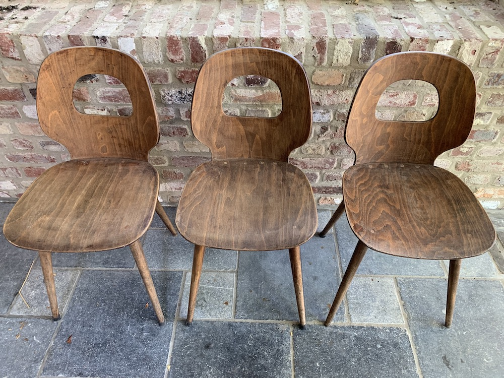 Baumann, chaises Baumann, Baumann chairs, vintage chairs, chaises vintage, kitchen chairs, charming chairs, interior decoration, interior decor, dining, dining room, dining chairs, bistrot chairs, wooden chairs, bistro chairs, design chairs