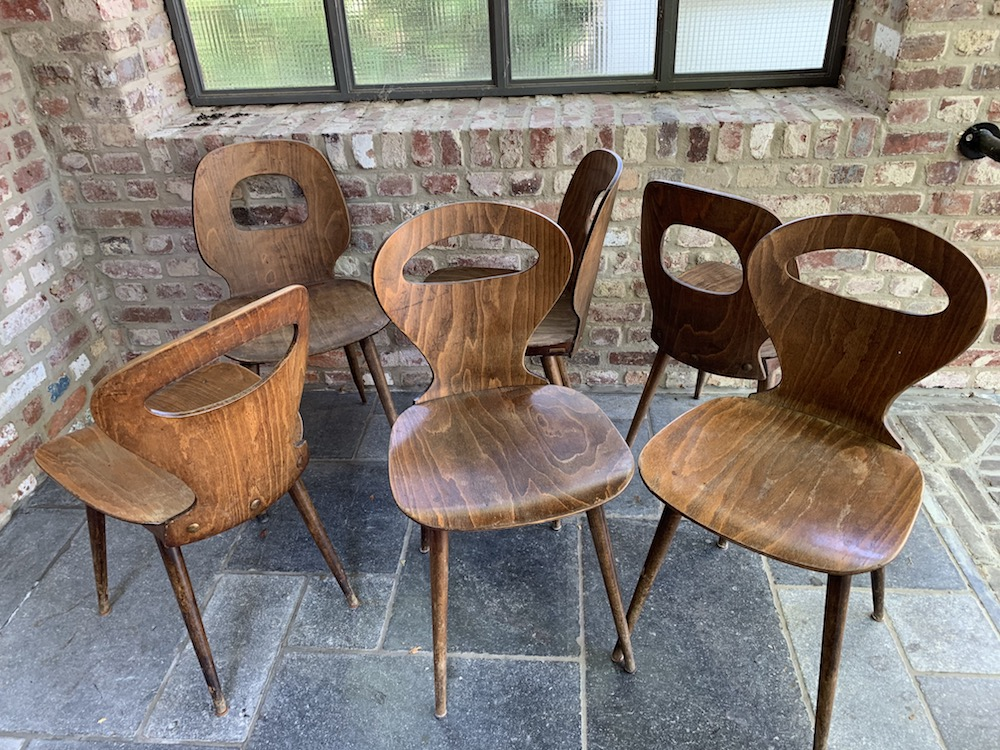 Baumann, chaises Baumann, Baumann chairs, vintage chairs, chaises vintage, kitchen chairs, charming chairs, interior decoration, interior decor, dining, dining room, dining chairs, bistrot chairs, wooden chairs, bistro chairs, design chairs