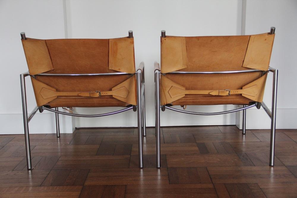 Martin Visser pair of easy chairs