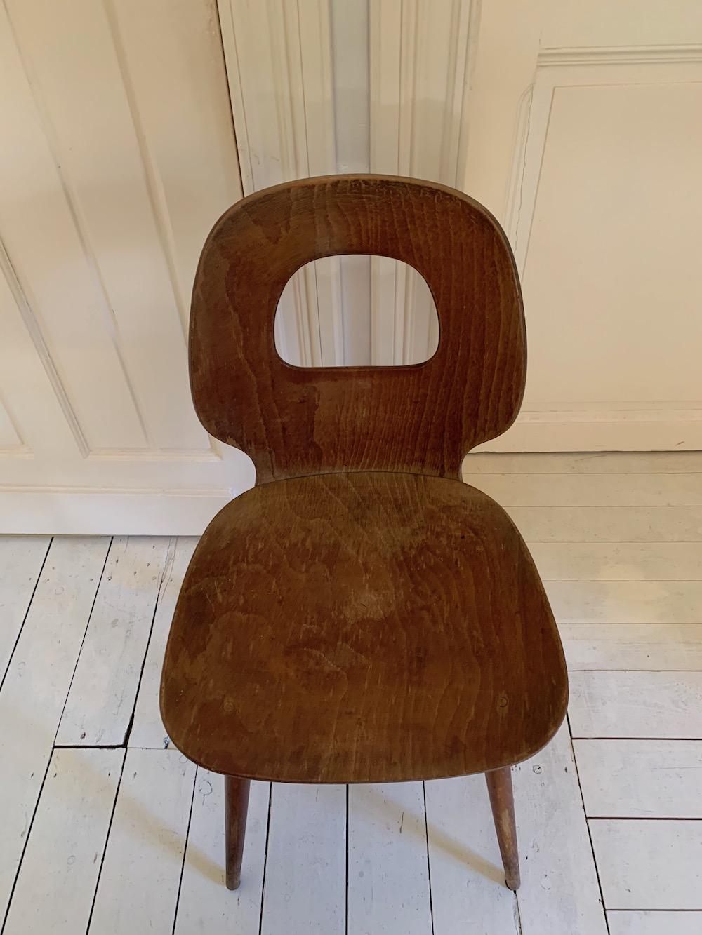 Baumann, Baumann chairs, chaises Baumann, dining chairs, chaises vintage, vintage chairs, wooden chairs, chaises bois, oeil de sorcière, chaises à diner, chaises design, design chairs, midmod, midcentury modern, mobilier vintage, mobilier design