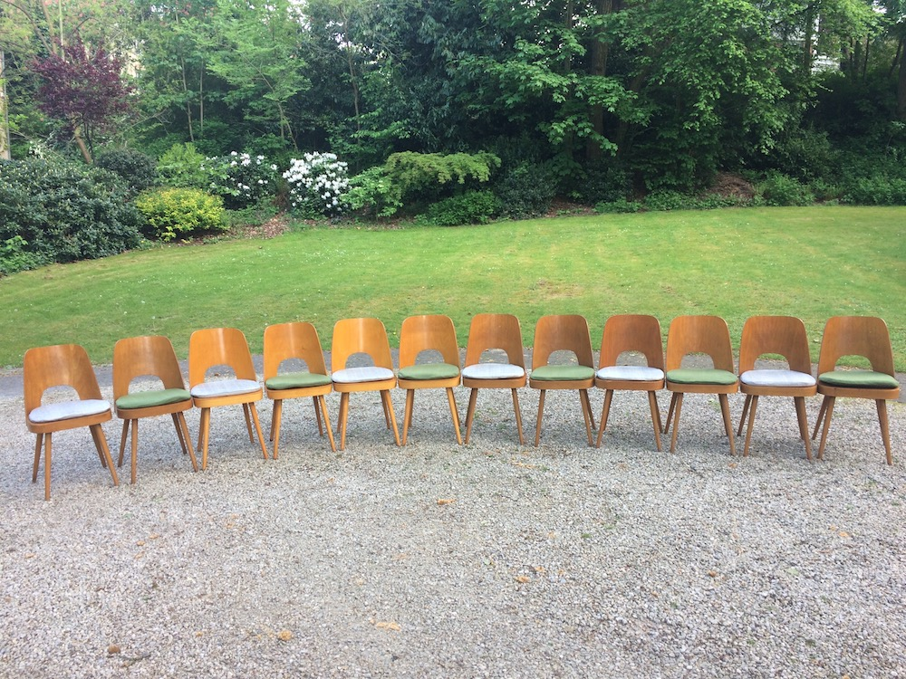 Oswald Haerdtl vintage wooden dining chairs for TonOswald Haerdtl vintage wooden dining chairs for Ton