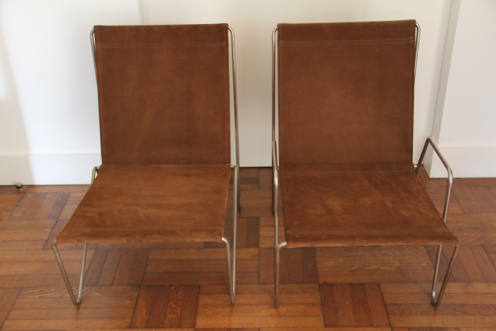 Pair of Verner Panton bachelor chairs