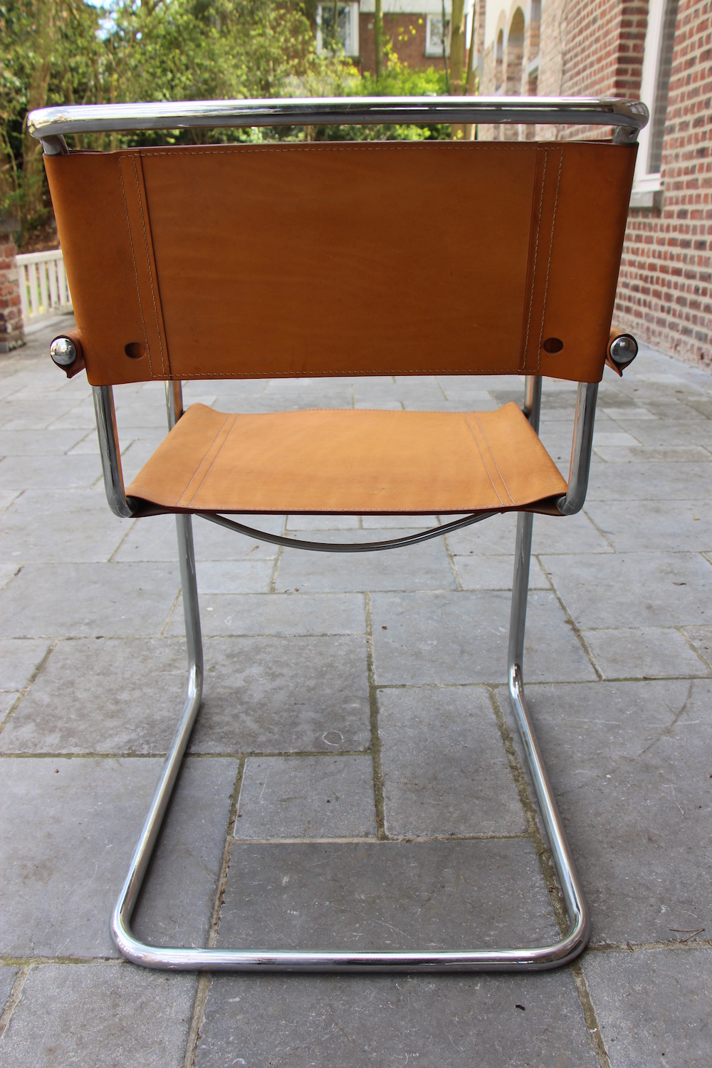 Vintage Mart Stam-style cantilever chairs