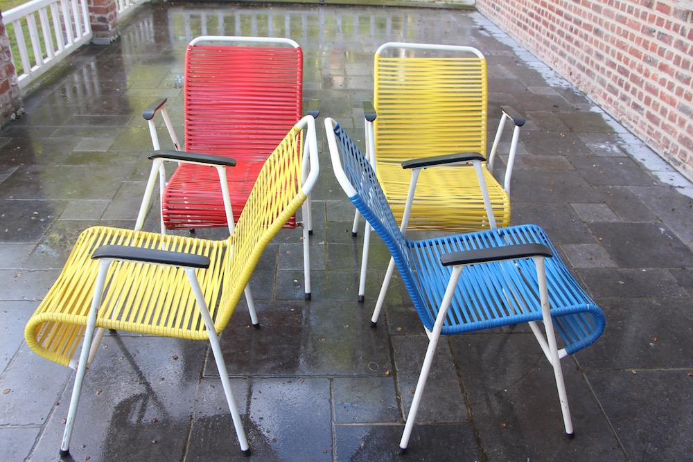 Set of vintage garden chairs