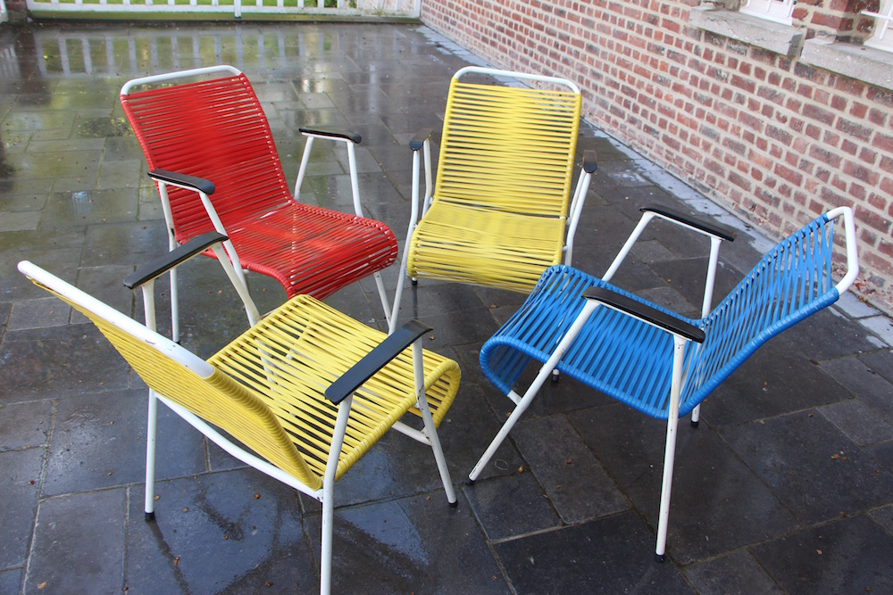 Set of vintage garden chairs