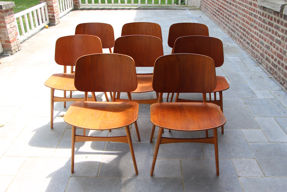 Borge Mogensen set of vintage chairs