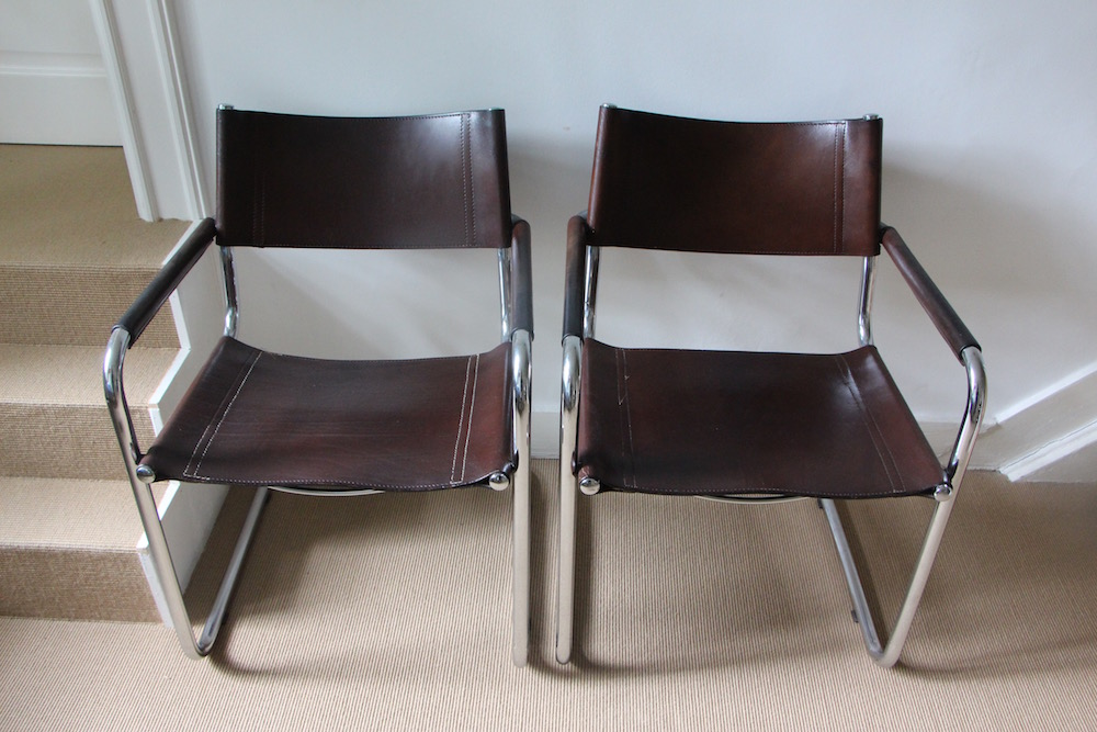 vintage Mart Stam cantilever chairs